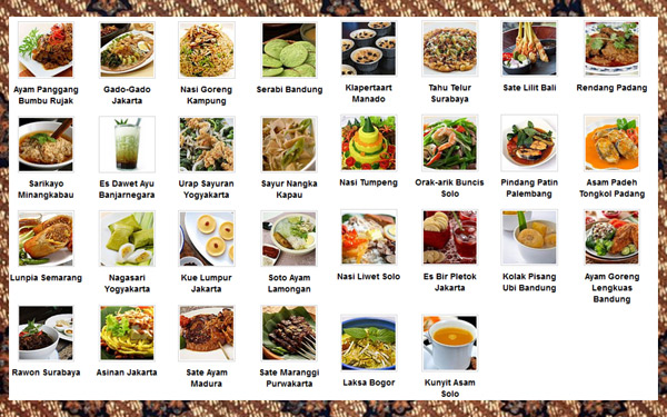 30 Ikon Kuliner Indonesia | Wisata Murah